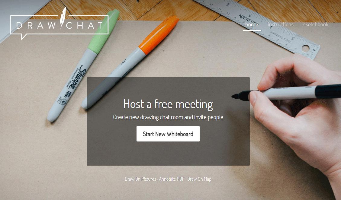 ユーザー登録不要!共同編集できるホワイトボードとチャットがすぐに使えるWEBサービス「Draw.Chat」