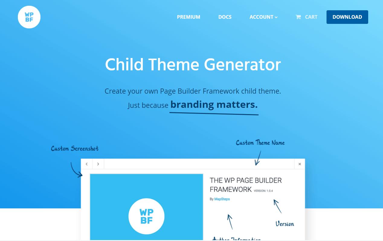 サクッと子テーマ用のファイルを生成してくれるWEBサービス「Child Theme Generator」