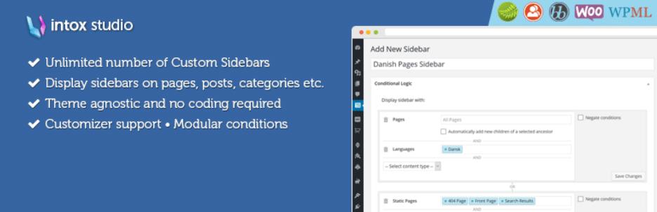指定した条件で表示されるウィジェットエリアを作成することができるWordPressプラグイン「Content Aware Sidebars – Unlimited Widget Areas」