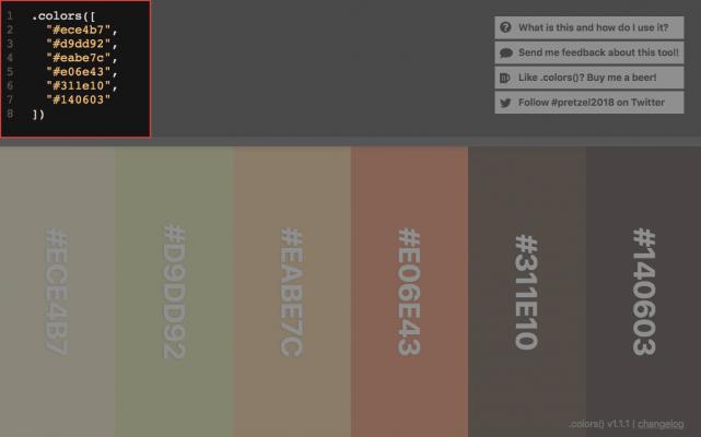 .colors()の使い方