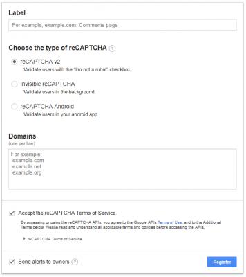 reCAPTCHAの内容