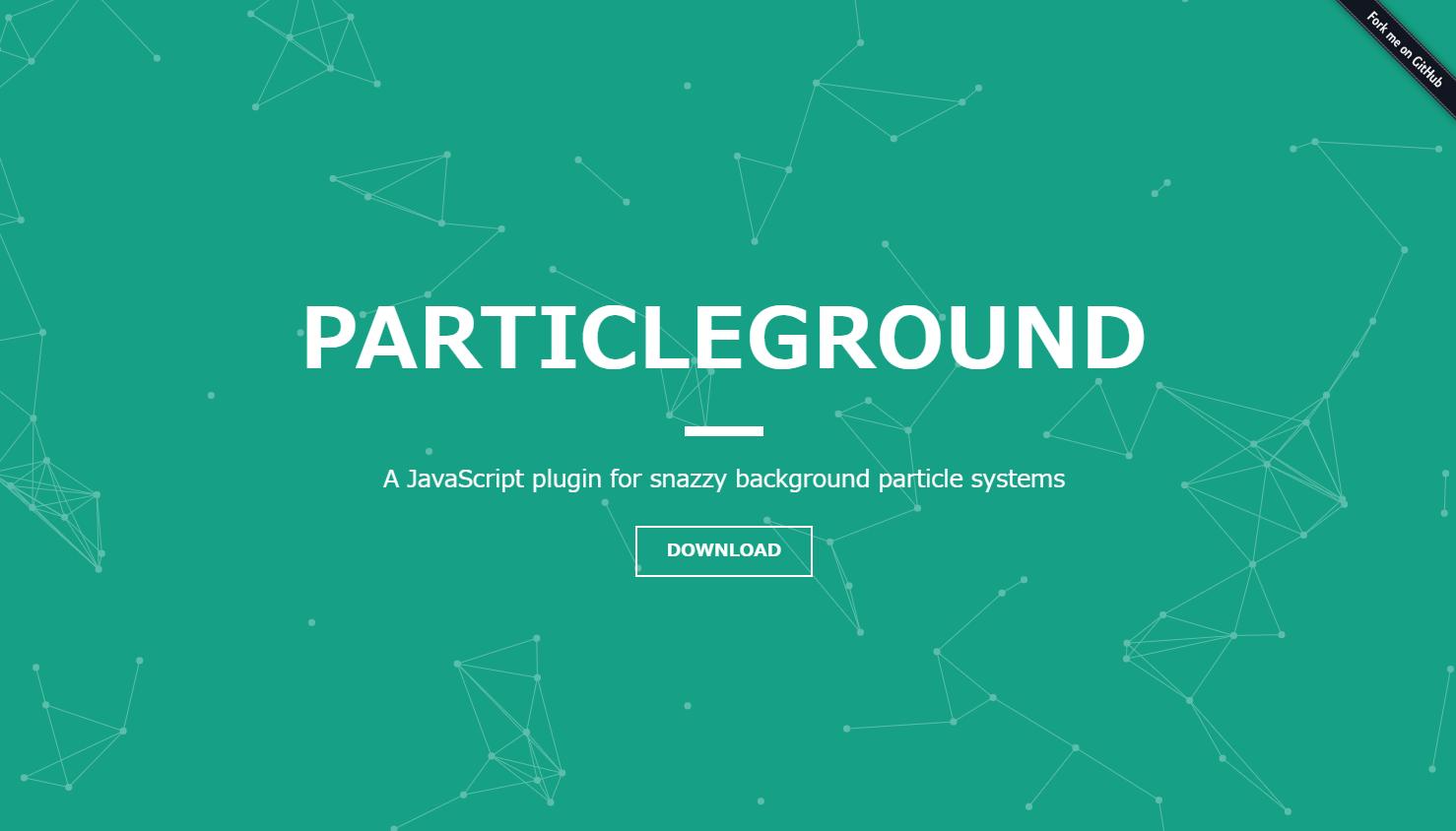 アニメーションする幾何学的な模様の背景を実装できるjQueryプラグイン「Particleground」