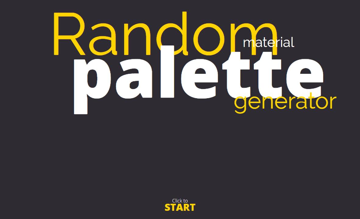 マテリアルデザインのカラーパレットをランダムに生成してくれるWEBサービス「Random Material Palette Generator」