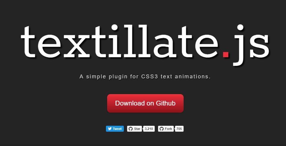 文字にアニメーションを加えることができるjQueryプラグイン「textillate.js」
