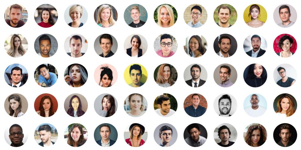 フリー素材の中から顔写真のみを検索してダウンロードできるWEBサービス「UI Faces」