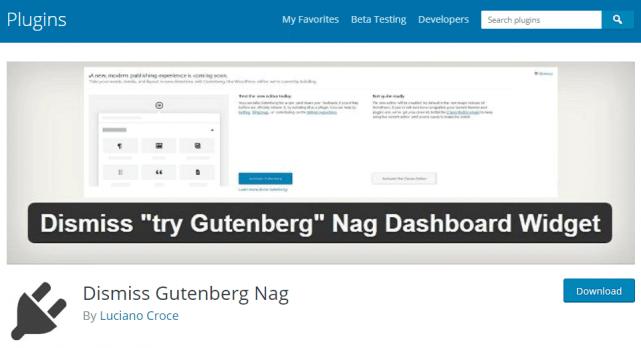 Dismiss Gutenberg Nag