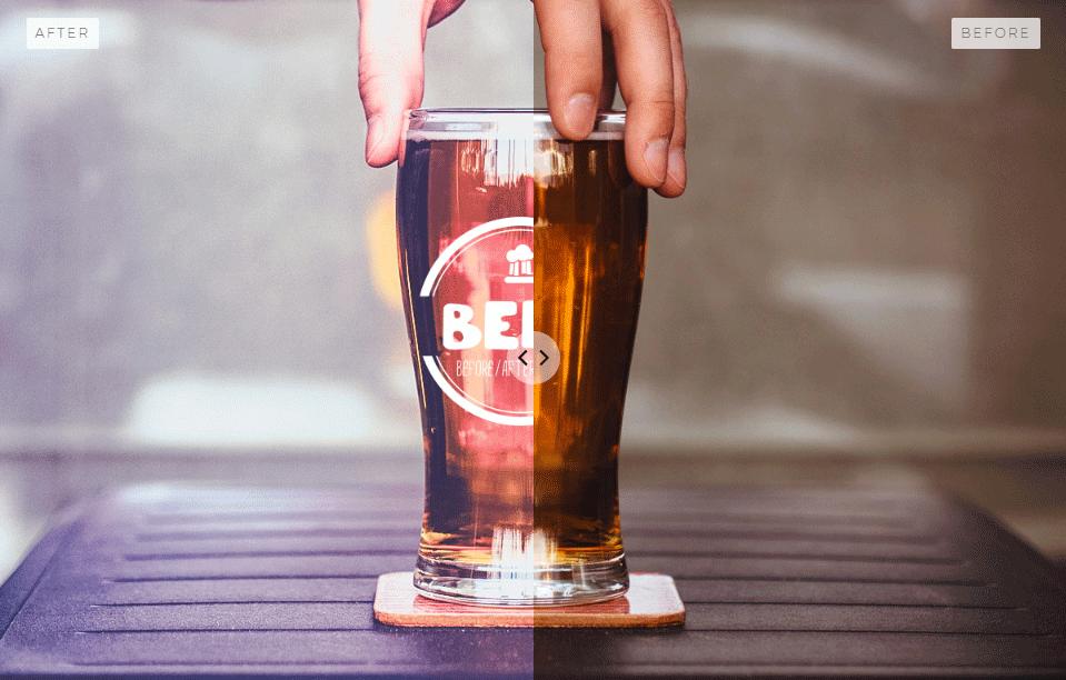 画像比較に便利!スライドして画像を切り替えることができる軽量スクリプト「Beer Slider」