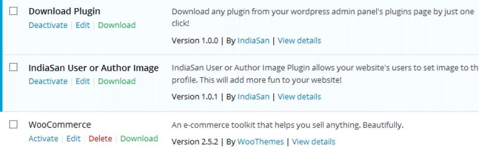 管理画面のプラグイン一覧からプラグインのファイル一式をダウンロードできるようにするWordPressプラグイン「Download Plugin」