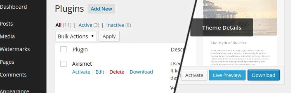 テーマやプラグインのファイルを管理画面上からダウンロードできるようにするWordPressプラグイン「WP Downloader」