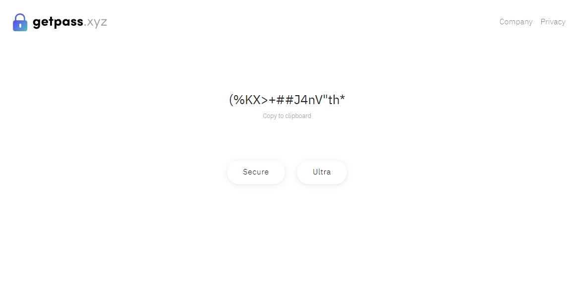 無駄な機能は一切なし!超絶シンプルなパスワードジェネレーター「Getpass」