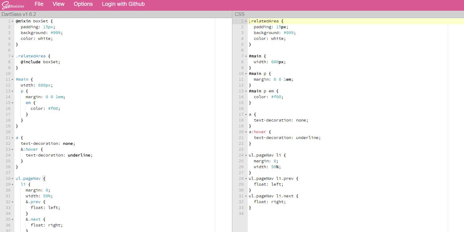 入力したSassをリアルタイムでCSSにコンパイルしてくれるWEBサービス「SassMeister」