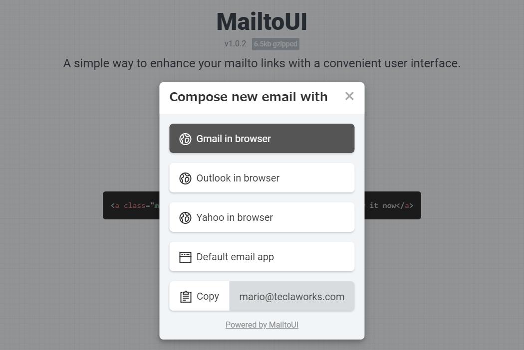 mailtoリンクをクリックした時の挙動をわかりやすくするスクリプト「MailtoUI」