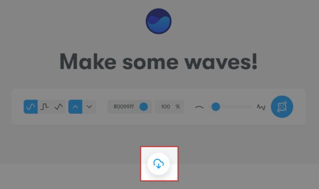 波形SVGのダウンロード