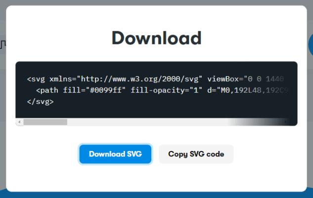 波形SVGコードのコピー
