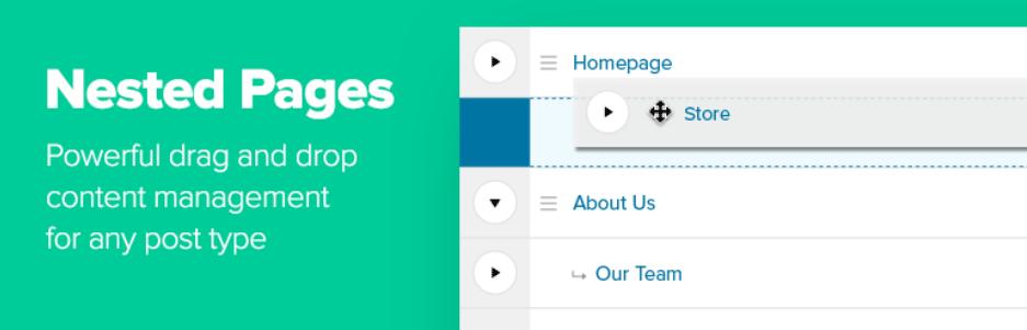 管理画面の投稿・固定ページの一覧をドラッグ&ドロップで並べ替えできるWordPressプラグイン「Nested Pages」