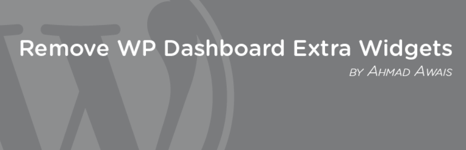 ダッシュボードの標準ウィジェットを一括して非表示にできるWordPressプラグイン「Remove WP Dashboard Extra Widgets」
