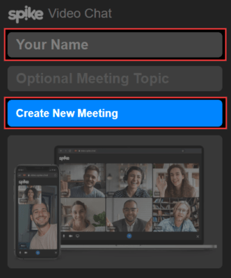 Spike Video Chat Meetingの使い方