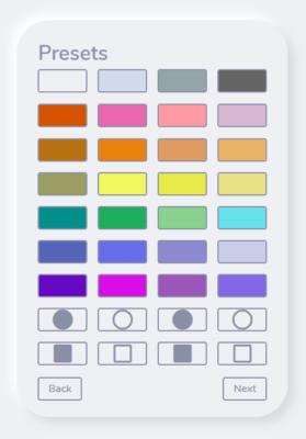 色と形の選択