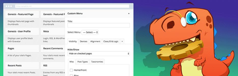 ウィジェットの表示条件を指定できるようになるWordPressプラグイン「Widget Options」