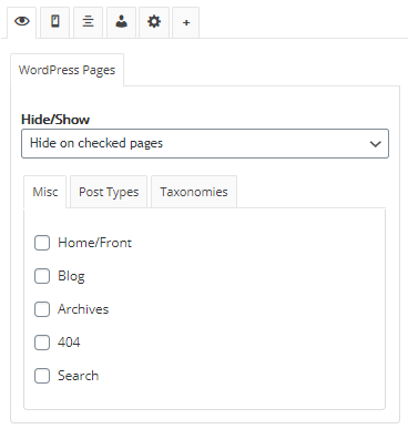 Widget Optionsの使い方
