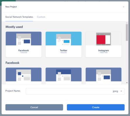 Codeimg.ioにアクセスして、画像サイズを選択します