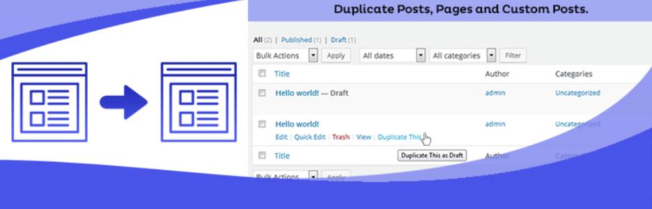 既存の投稿や固定ページを複製できるWordPressプラグイン「Duplicate Page」