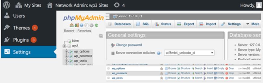 管理画面からphpMyAdminにアクセスできるようになるWordPressプラグイン「WP phpMyAdmin」